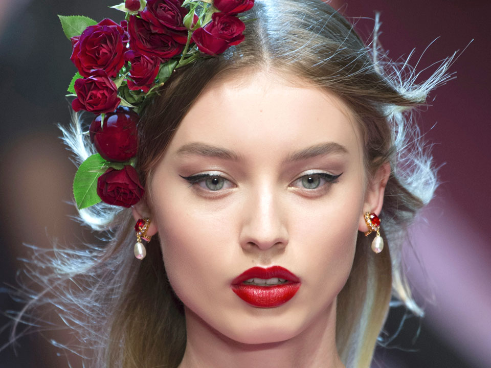trucco sposa Red lips